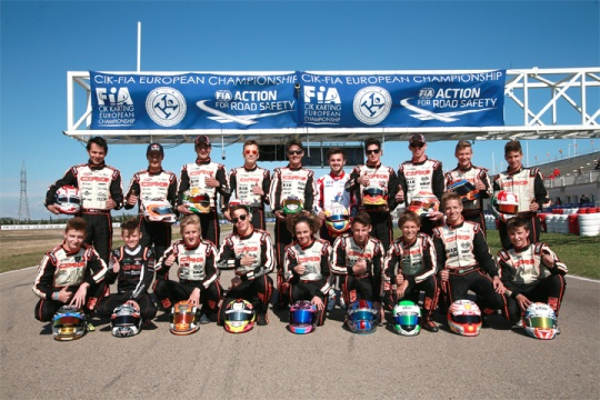 CRG podium vanished in the European KZ, OK, OKJ Championship in Zuera