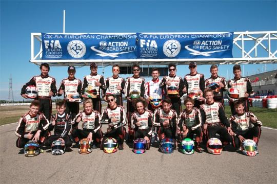 CRG podium vanished in the European KZ, OK, OKJ Championship in Zuera
