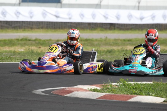 Celenta and Torsellini inflame Sarno during the second round of the Italian ACI Karting Championship
