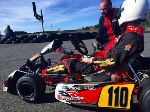 Eddie Toftebom took his DR Kart in second place at the Axamo Ring