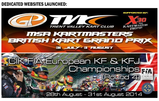 Trent Valley Kart Club launches two new event websites