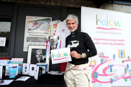 Damon Hill's charity karting thriller raises £16,000 for Halow at Daytona Sandown Park