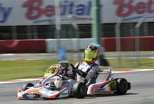 The first leaders of the European CIK-FIA KF & KFJ Championship
