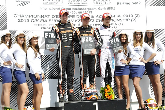 Verstappen (CRG-TM) and Antonsen (DR-TM) win the CIK-FIA European championship of KZ and KZ2