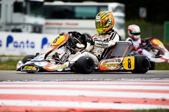 Triple podium for CRG in Genk. Dalé on Crg/Maxter King of KZ2