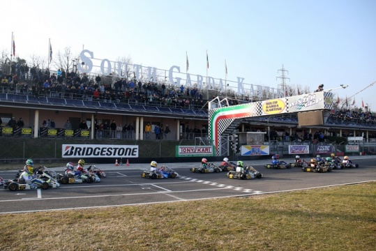 The Winter Cup of Lonato climbing up to 330 drivers
