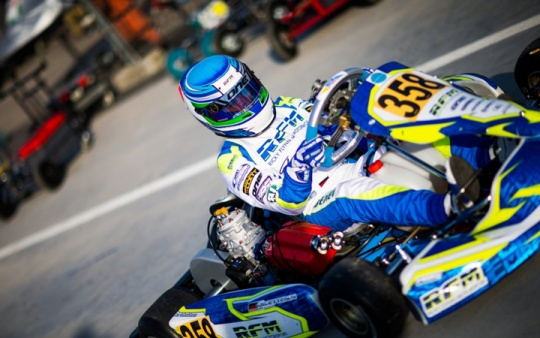 Niklas Krütten best German starter at WSK Super Masters