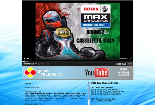 Rotax Euro on Live Streaming