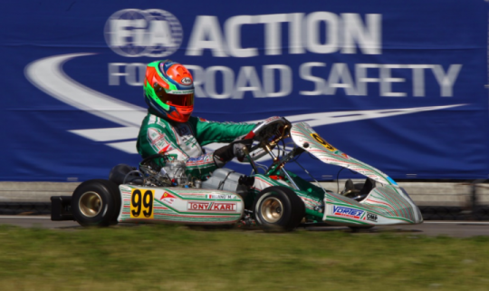 European championship in Genk. KZ and KZ2 are the categories on track