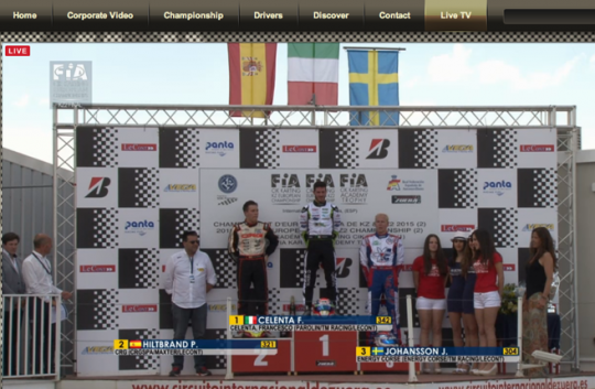 Celenta dominates but gets penalty in KZ2 final