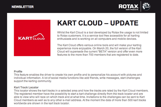 Rotax Newsletter - Read the latest from the Rotax world