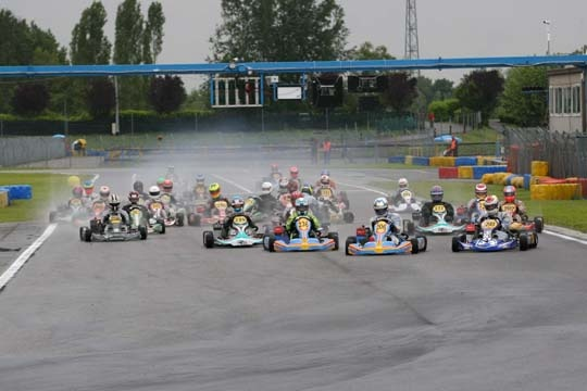 ROTAX MAX Euro Challenge: Rainy Heats at Castelletto