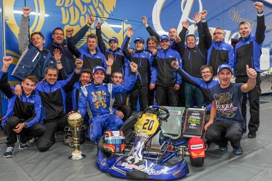 Podium for Praga Kart Racing