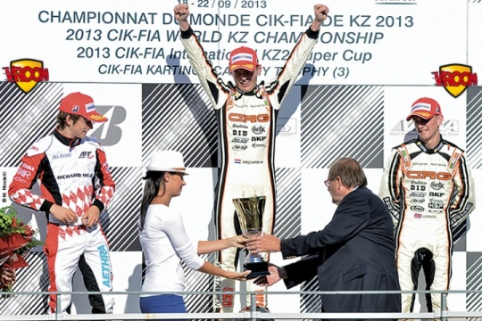 2013 Kart World Championship, a F1 podium