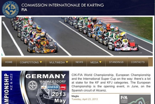 New website for CIK-FIA Championships