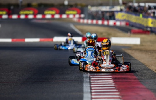 The Team is ready for the WSK Super Master Series round of La Conca