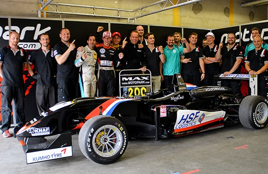 200th Victory for Team Motopark at the Formula 3 Masters