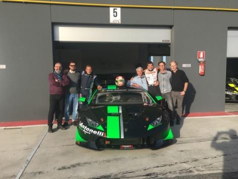 Paolo De Conto tests the Lamborghini Huracan SuperTrofeo