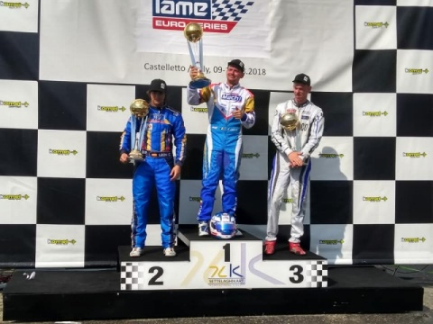 Delré on his victory in the Iame Euro Series