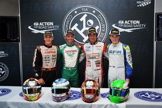 CIK-FIA European Championship OK - OKJ - KZ - KZ2 in Genk (B) - Final standings