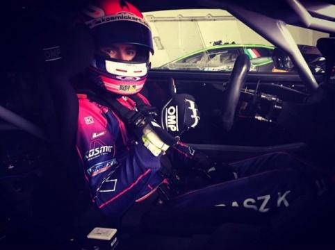 Karol Basz with Antonelli Motorsport for the Italian GT Championship