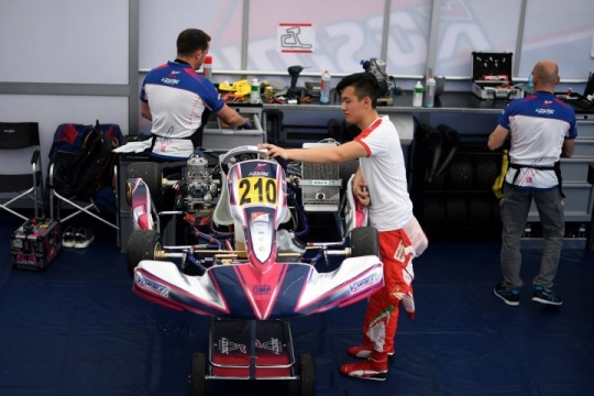 Kosmic Kart at work with the Ferrari Driver Academy