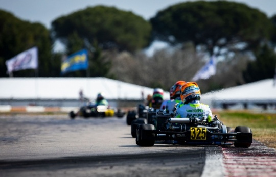 Good performance for Laurens van Hoepen in the WSK at La Conca
