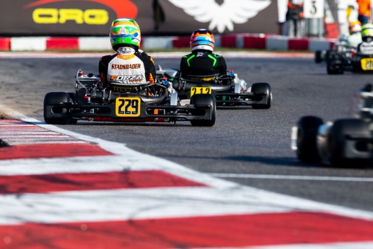 Bad luck for Stadsbader at the WSK Open Cup round 1