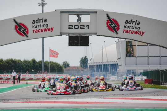 Incredibly close heat racing Saturday at the RMC Euro Trophy in Adria
