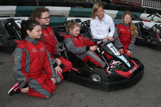 Susie Wolff's campaign Dare To Be Different takes off at Daytona Sandown Park