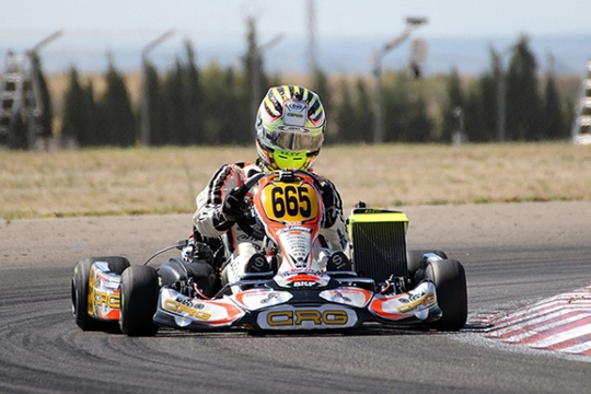 CRG on Zuera's podium with a spectacular Lennox in DD2 at the Euro Rotax