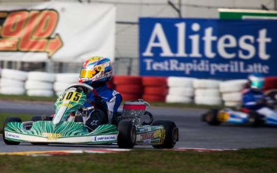 Rubén Moya cuarto en el Trofeo de la Industria de karting en Lonato.
