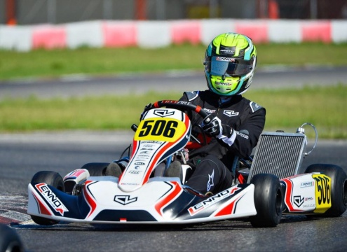 Luca Bosco is back on track for the KZ2 European Championship