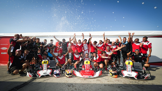 Longhi the European KZ Champion and double for the Birel ART chassis