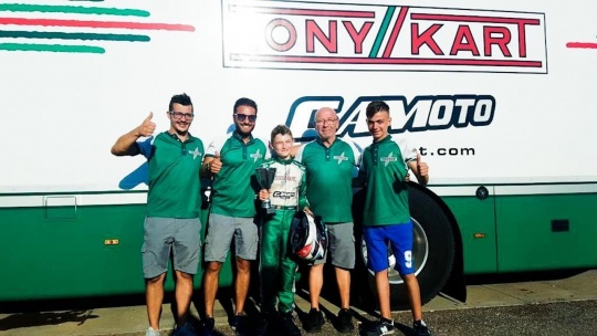 Gamoto Kart on the podium at the Trofeo D'Estate