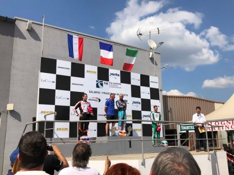 Kart Grand Prix of France - Finals: Renaudin (KZ2) and Iglesias (KZ), win at home