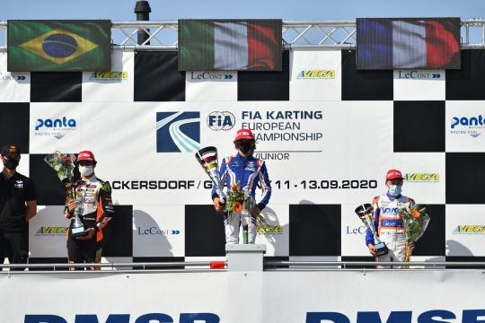 Camara on the podium in the last race of the European Championship