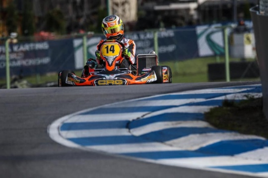 Bortoleto and CRG together for the first race in KZ2