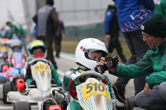 Good first run for Gamoto Kart at the Adria Karting Raceway