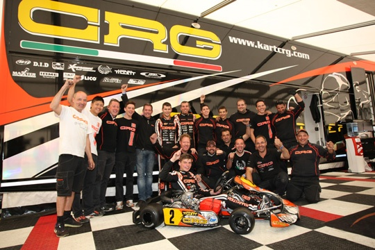 MISSION ACCOMPLISHED FOR CRG AND MAX VERSTAPPEN: THE NEW WSK EURO SERIES KZ1 CHAMPIONS