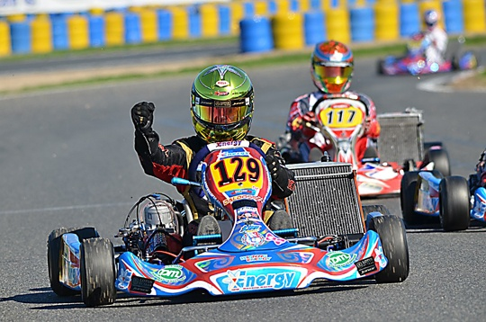 Boccolacci triumphs at debut in KZ2