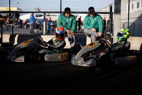 Green flag for the WSK Super Master Series in Adria