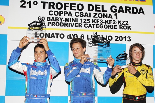HUGE SUCCESS FOR THE 21st NIGHT GARDA TROPHY WITH 232 DRIVERS ON TRACK. FIRST PODIUM FOR GIULIANO ALESI