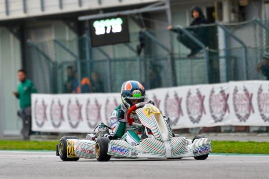 Hiltbrand leads Tony Kart podium