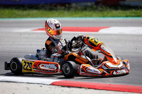 Rafael Camara ends the WSK weekend with a podium