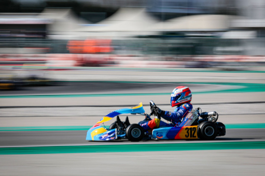 Mark Kastelic at La Conca for the WSK Super Master Series