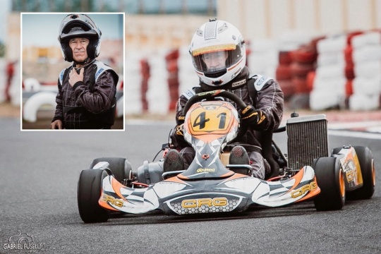 Driver at 78: when the passion for karting has no age