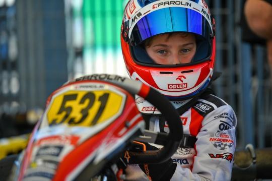 Maciej Gladysz in the attack mode for the Italian Championship