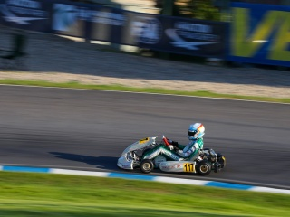 Tony Kart on the World podium.