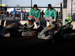 Green flag for the WSK Super Master Series in Adria.
